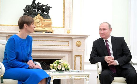 Президент Эстонии Керсти Кальюлайд предложила Владимиру Путину сотрудничество между ЕС и Россией