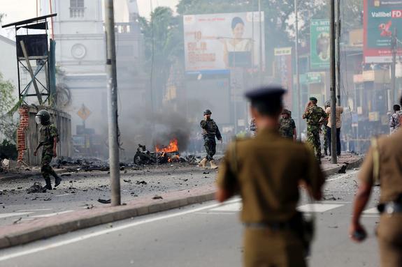 Возможный исполнитель одного из терактов на Шри-Ланке попал на видео