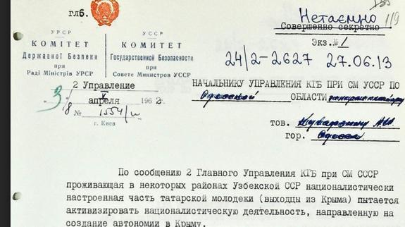 На Украине рассекретили крымскотатарский архив КГБ