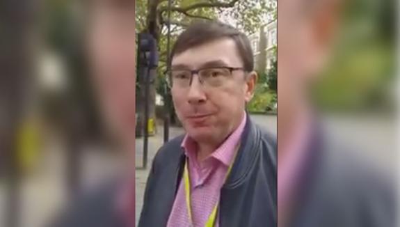 Бывшего генпрокурора Украины подловили в Лондоне