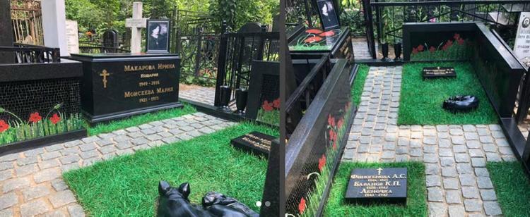 Злоумышленники осквернили могилу Ирины Макаровой