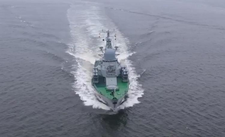 """Минобороны опубликовало видео первого пуска Х-35 с корабля """"Смерч"""""""