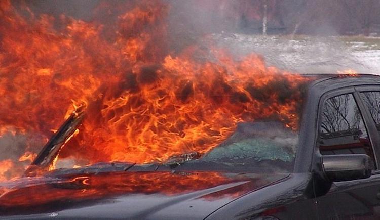 Петербуржцы потушили загоревшийся автомобиль при помощи воды из цветочного магазина