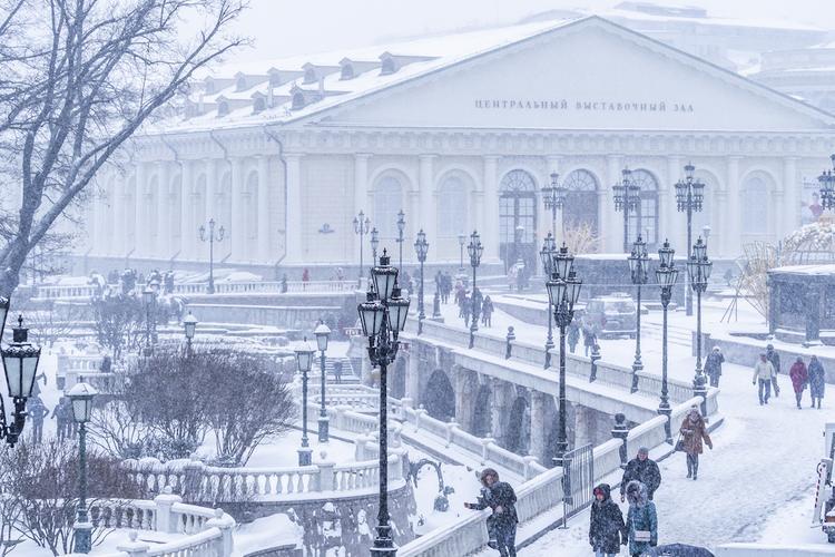 Сегодня во второй половине дня в Москву придут метель и туман
