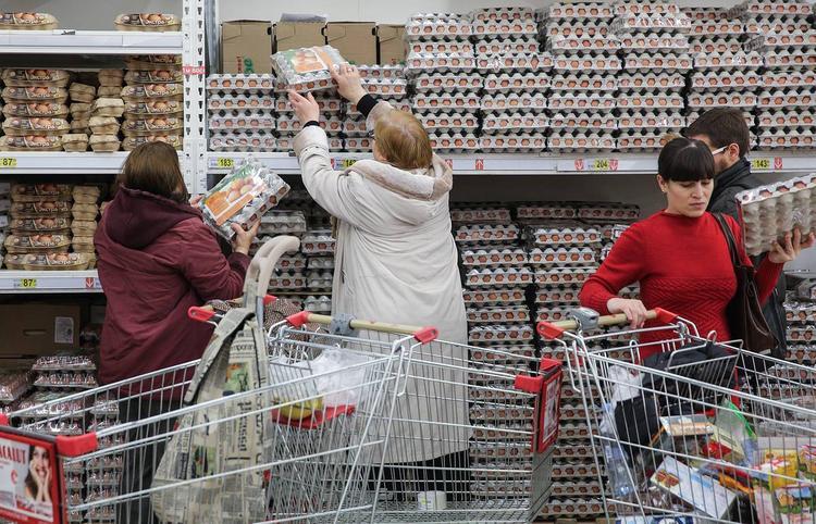 Россияне заедают кризис яйцами