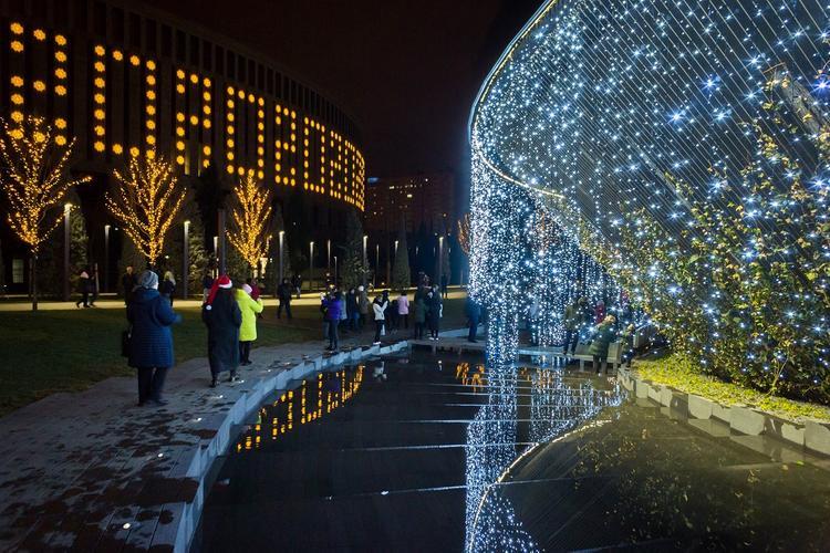 Работу фонтанов в парке «Краснодар» продлили до 7 января