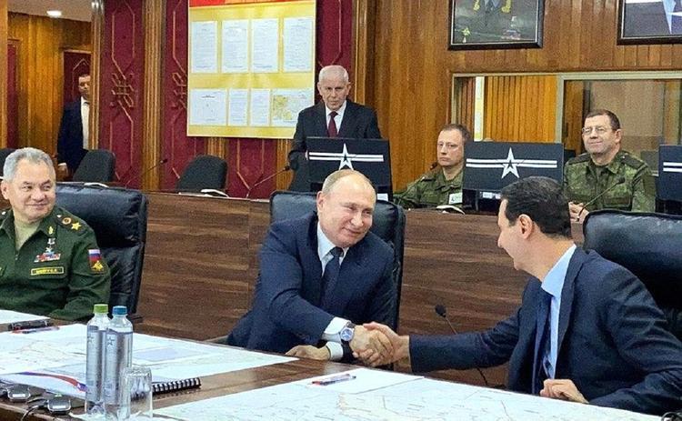 Путин встретился в Сирии с Башаром Асадом