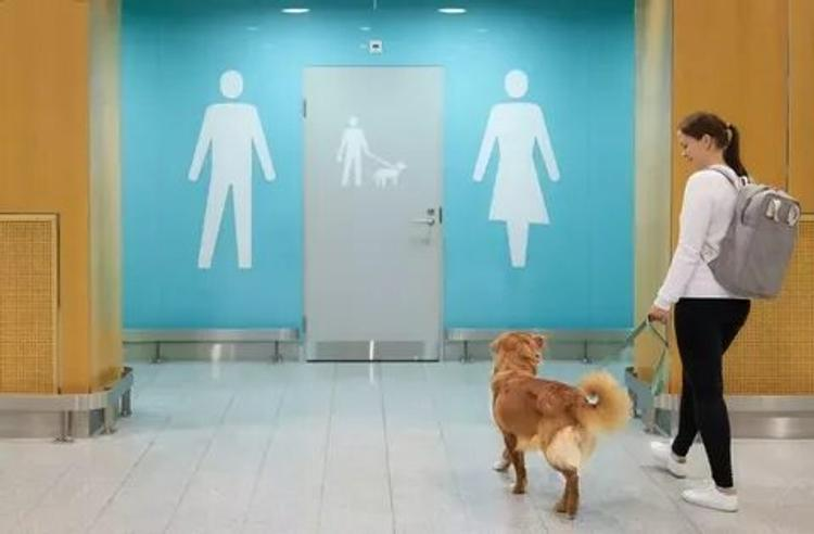 Сервис высокого класса: в аэропорту Хельсинки созданы туалеты для животных