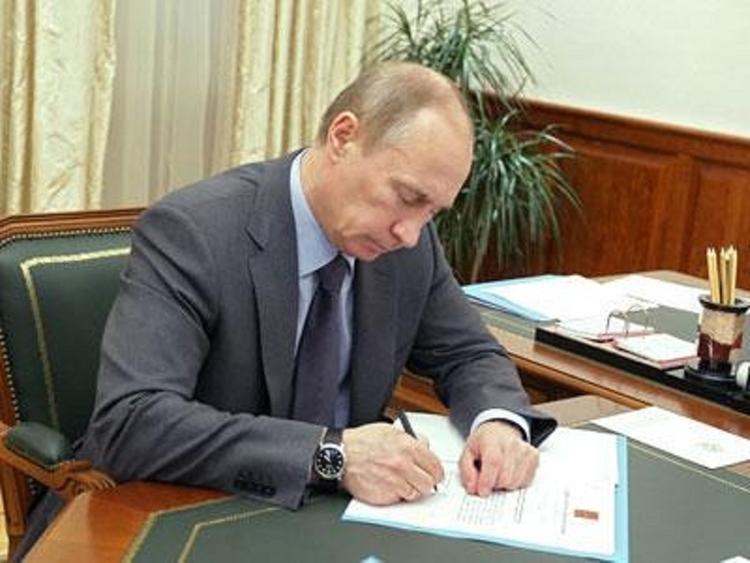 Путин внес в Госдуму проект закона о поправках к Конституции