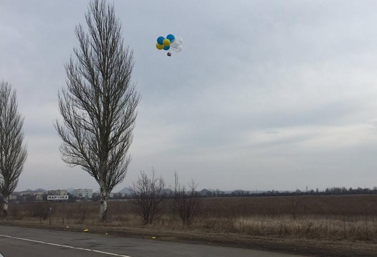 В Киеве назвали диверсией запуск шариков с открытками