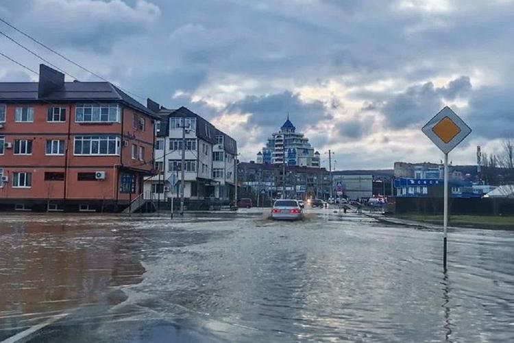 В Краснодарском крае подтопило несколько поселков и город Горячий Ключ