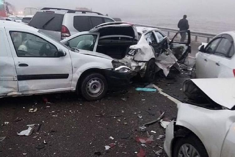 В полиции Адыгеи назвали точную причину столкновения 35 автомобилей