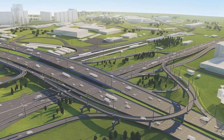 Собянин оценил ход реконструкции развязки МКАД с Волоколамским шоссе