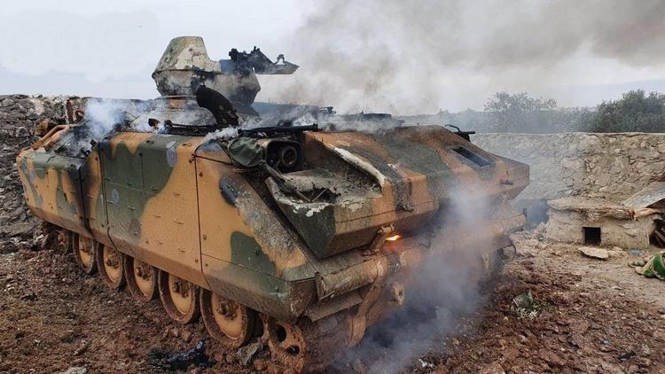 Угрожавшая России Турция лишилась 73 танков и БТР в Сирии