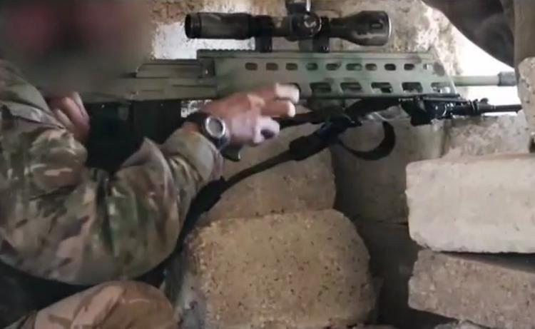 Репортер из Идлиб показал, как работает снайпер
