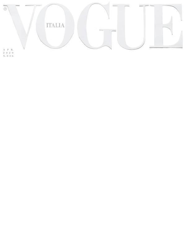 «Это цвет одежды тех, кто спасает наши жизни», новый номер итальянского Vogue выйдет с чистой белой обложкой