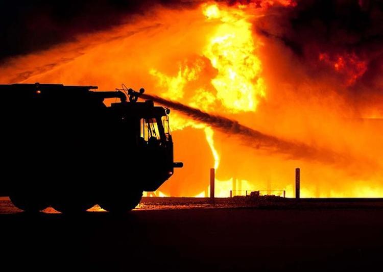 Пожар произошел на территории исправительной колонии под Иркутском