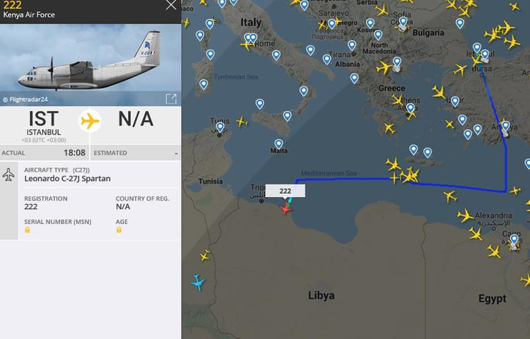 Следом за американским чартером в Ливию прибыл самолет ВВС Кении