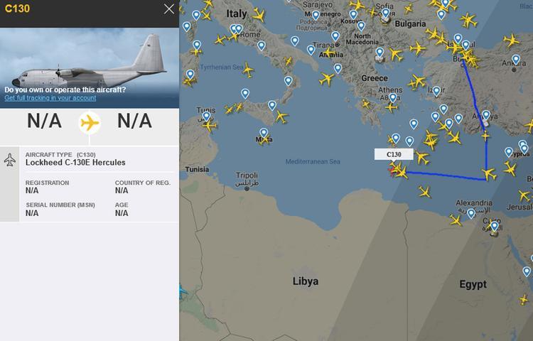 Турецкий военный транспортник опять замечен по дороге в Ливию