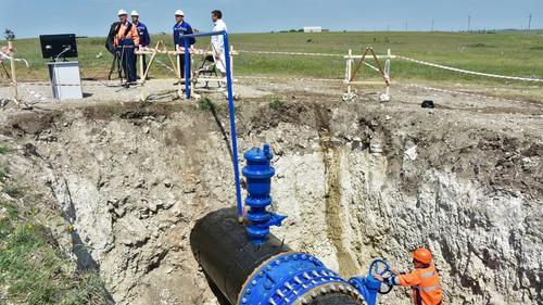В Симферополе запустили новый водопровод