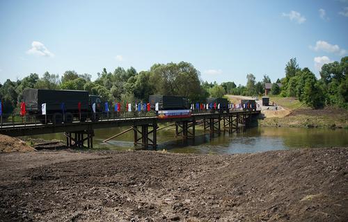 Военные построили еще пять мостов в Тульской области