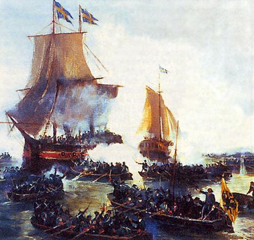 В 1717 году русский морской десант высадился на шведский остров Готланд