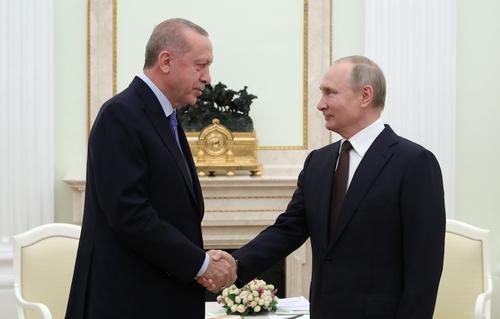 Путин и Эрдоган провели телефонный разговор