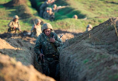 Армения опубликовала видео удара Азербайджана по армянскому селу