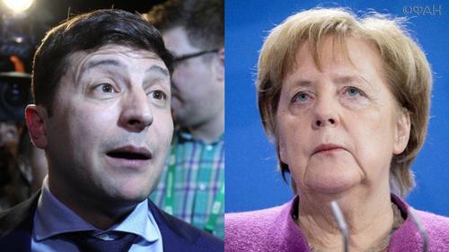 Меркель обещала Зеленскому помощь Германии и Франции в делах Донбасса