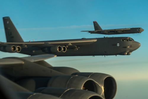 В-52Н ВВС США из бомбардировочной группы постоянной готовности имитировали удары по РФ