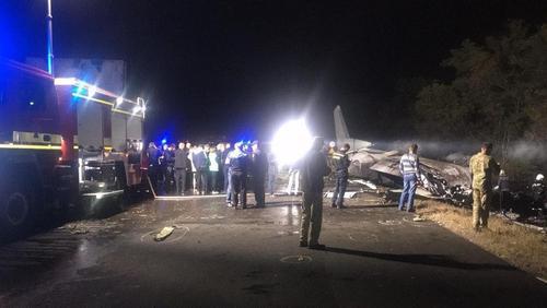 Антон Геращенко опубликовал видео крушения самолёта Ан-26 под Харьковом
