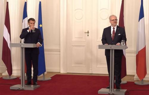 Визит президента Франции в Латвию: нужно налаживать стратегический диалог с РФ