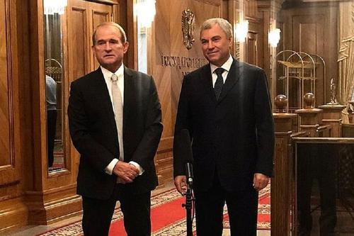 Володин и Медведчук обсудили активизацию межпарламентского взаимодействия