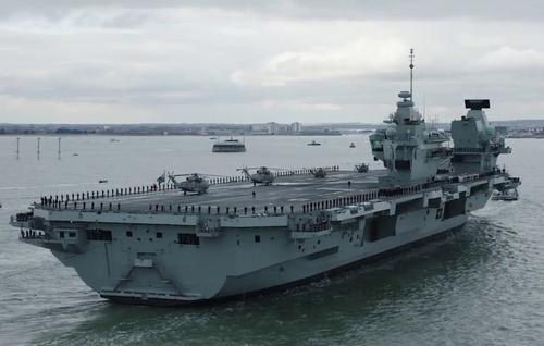 На новейшем английском авианосце HMS Prince of Wales произошло ЧП