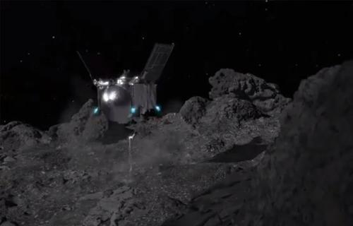 Аппарат NASA слетал за мусором на астероид