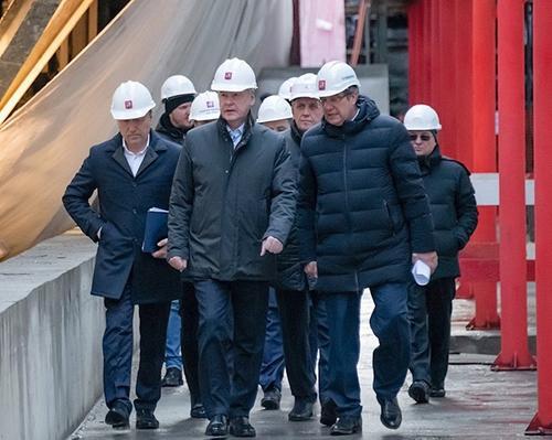 Собянин осмотрел строящуюся станцию «Текстильщики» БКЛ метро