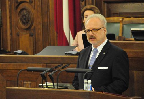 Президент Латвии Эгилс Левитс: Общество должно мобилизовать свои силы