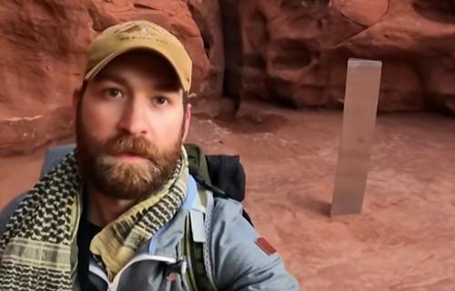 В США нашли загадочный пустынный монолит