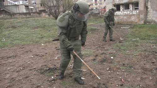 Российские миротворцы обезвредили в Карабахе более 1100 взрывоопасных предметов