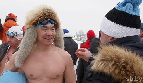 Монгольский пловец поддержал акцию «Закаленная Россия – сильная страна»