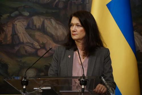 Глава МИД Швеции назвала «российскую агрессию» на Украине вызовом безопасности Европы