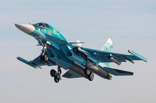 Опубликовано видео ударов российского Су-30 по протурецким боевикам в сирийском Идлибе