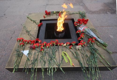 В центре Петербурга школьник случайно затушил Вечный огонь снежком