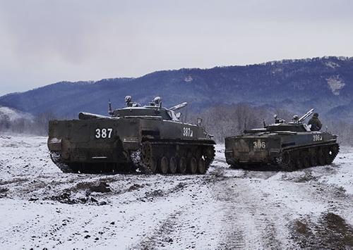 В ходе военных учений в ЮВО ротные тактические группы отработали боевые задачи