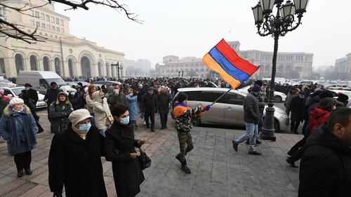 В Ереване проходит акция протеста с требованием отставки Пашиняна