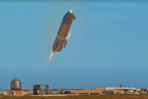 Неудачная посадка прототипа Starship