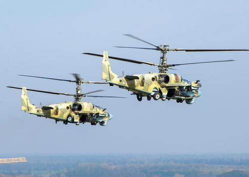 Вертолетный полк ЮВО получил 7 новых ударных геликоптеров Ка-52 «Аллигатор»