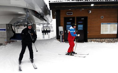 Видео, как Владимир Путин и Александр Лукашенко на лыжах катались