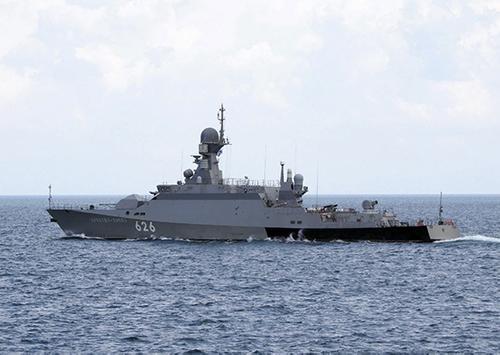 МРК «Орехово-Зуево» Черноморского флота идет к сирийским берегам