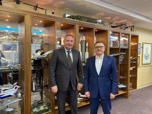Алексей Текслер провел рабочую встречу с главой «Роскосмоса»